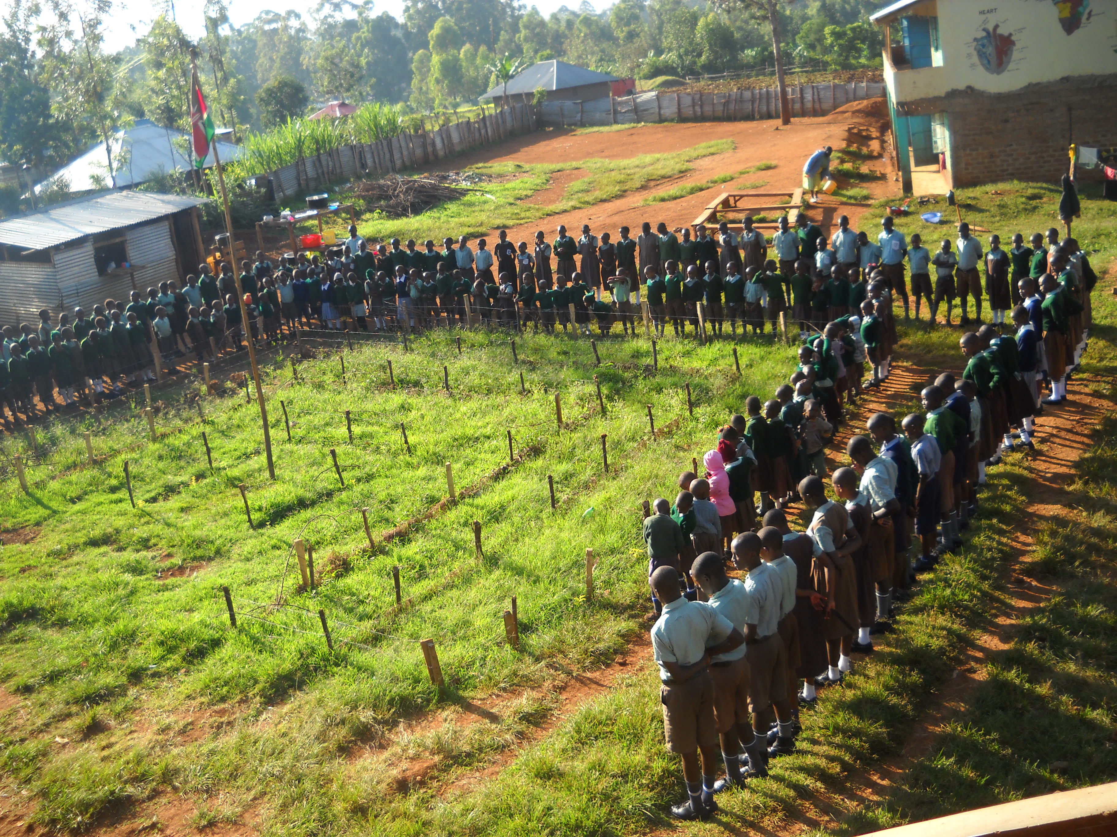 Buy adjoining land and expand the school to meet the Kenyan Ministry of Education requirements for a primary school.